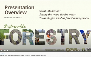 Forester Time with Sarah Maddison - Forest Tech: GIS, Remote Sensing and UAVs